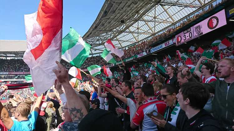 Match between Feyenoord and RKC Waalwijk in sold-out Kuip